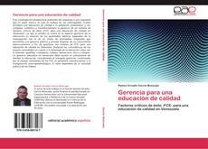 Bookcover of Gerencia para una educación de calidad