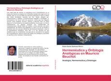 Bookcover of Hermenéutica y Ontología Analógicas en Mauricio Beuchot