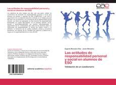 Borítókép a  Las actitudes de responsabilidad personal y social en alumnos de ESO - hoz