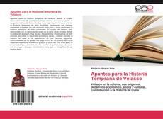 Portada del libro de Apuntes para la Historia Temprana de Velasco