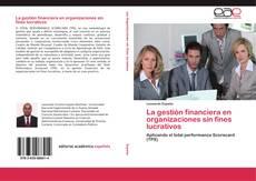 Buchcover von La gestión financiera en organizaciones sin fines lucrativos