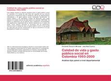 Calidad de vida y gasto público social en Colombia 1993-2000 kitap kapağı