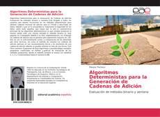 Portada del libro de Algoritmos Deterministas para la Generación de Cadenas de Adición