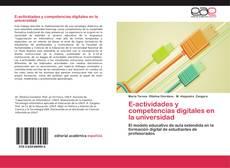 Portada del libro de E-actividades y competencias digitales en la universidad