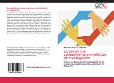 Portada del libro de La gestión de conocimiento en institutos de investigación