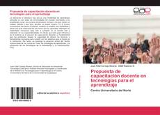 Capa do livro de Propuesta de capacitación docente en tecnologías para el aprendizaje