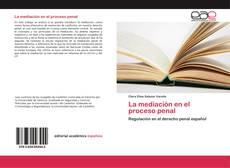 Capa do livro de La mediación en el proceso penal