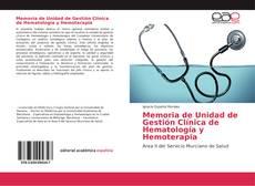 Portada del libro de Memoria de Unidad de Gestión Clínica de Hematología y Hemoterapia