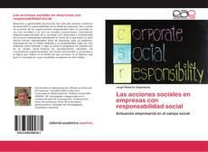 Las acciones sociales en empresas con responsabilidad social的封面