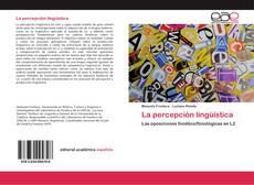 Bookcover of La percepción lingüística