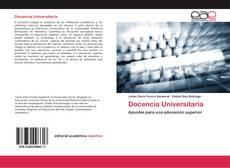 Docencia Universitaria kitap kapağı