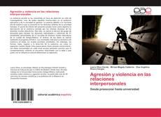Portada del libro de Agresión y violencia en las relaciones interpersonales