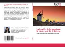 Capa do livro de La función de la poesía en la estructura de El Quijote