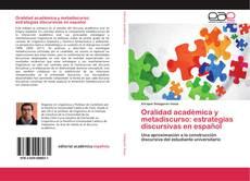 Portada del libro de Oralidad académica y metadiscurso: estrategias discursivas en español