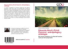 Capa do livro de Eduardo Nicol y Ernst Cassirer: antropología y ontología