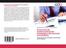 Portada del libro de El proceso de profesionalización pedagógica del docente universitario