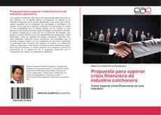 Buchcover von Propuesta para superar crisis financiera de industria colchonera