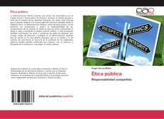 Portada del libro de Ética pública