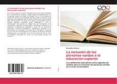 Portada del libro de La inclusión de las personas sordas a la educación superior