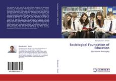 Couverture de Sociological Foundation of Education