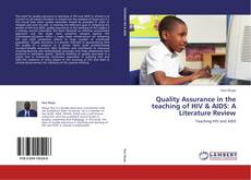 Обложка Quality Assurance in the teaching of HIV & AIDS: A Literature Review