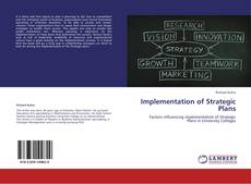 Capa do livro de Implementation of Strategic Plans