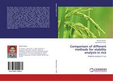Couverture de Comparison of different methods for stability analysis in rice