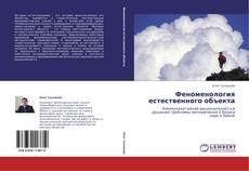 Bookcover of Феноменология естественного объекта