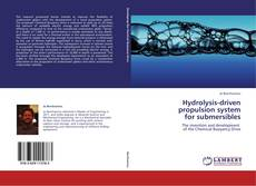 Buchcover von Hydrolysis-driven propulsion system  for submersibles
