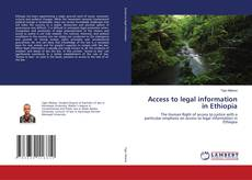 Access to legal information in Ethiopia的封面
