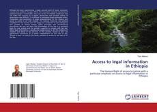 Buchcover von Access to legal information in Ethiopia