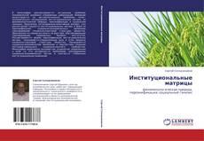 Обложка Институциональные матрицы