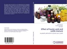 Buchcover von Effect of humic acid and cattle manure