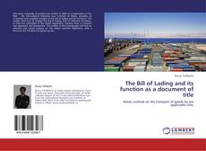 Buchcover von The Bill of Lading and its function as a document of title