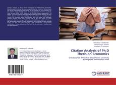 Bookcover of Citation Analysis of Ph.D Thesis on Economics