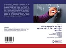 Bookcover of Non parametric optimal estimation of the regression function