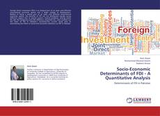 Buchcover von Socio-Economic Determinants of FDI - A Quantitative Analysis
