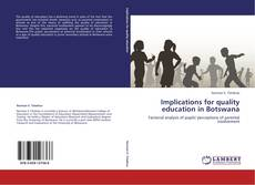 Buchcover von Implications for quality education in Botswana