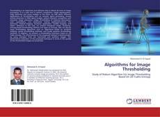 Capa do livro de Algorithms for Image Thresholding