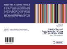 Portada del libro de Preparation and characterization of new HPLC stationary phase