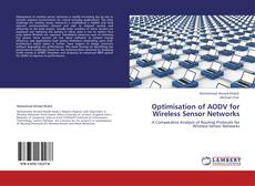 Capa do livro de Optimisation of AODV for Wireless Sensor Networks