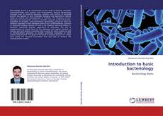 Introduction to basic bacteriology kitap kapağı