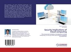 Buchcover von Security Implications of Cloud computing