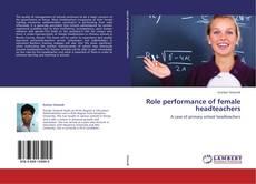 Buchcover von Role performance of female headteachers