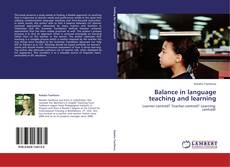 Couverture de Balance in language teaching and learning