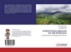 Bookcover of A Multi-Criteria Approach For Job Preferences