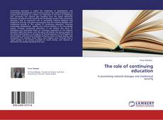 Bookcover of The role of continuing education