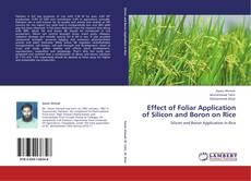 Couverture de Effect of Foliar Application of Silicon and Boron on Rice