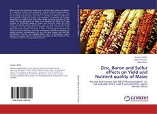 Zinc, Boron and Sulfur effects on Yield and Nutrient quality of Maize kitap kapağı