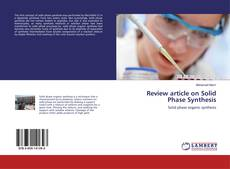 Copertina di Review article on Solid Phase Synthesis